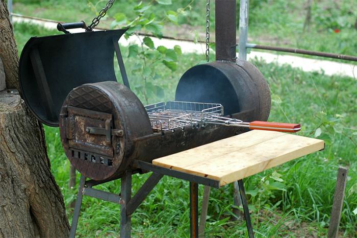 Садовая печь барбекю с мангалом своими руками чертежи фото 400